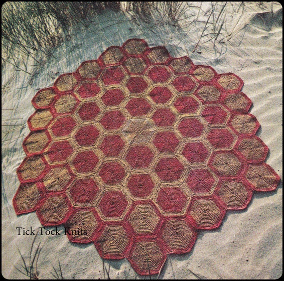 No 262 Crochet Pattern Pdf Vintage Turtle Shell Hexagonal Etsy