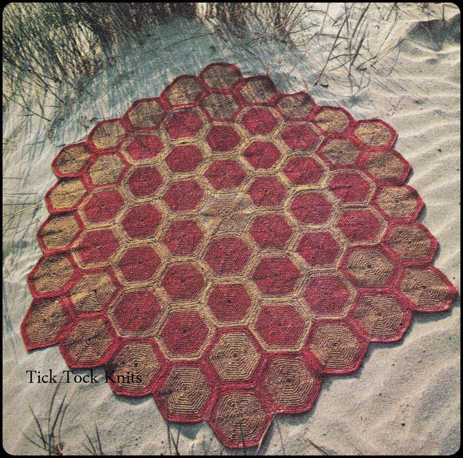 No.262 Crochet Pattern PDF Vintage Turtle Shell Hexagonal
