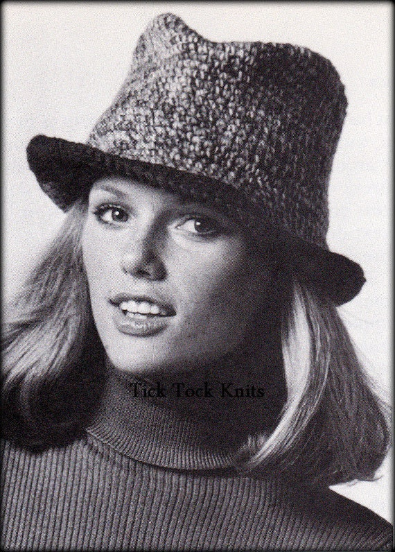 No551 Pdf Crochet Pattern For Women Crochet Fedora Hat Etsy