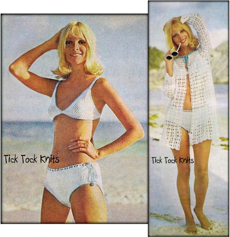 22bc0ea572 No.661 Crochet Pattern For Women Vintage PDF Bikini & | Etsy