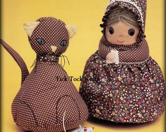 No.497 Sewing Pattern PDF Vintage Calico Doll And Her Kitty - Girl Cat Child Toddler Baby Toy Softie Pillow - 1970's Retro Sewing Pattern