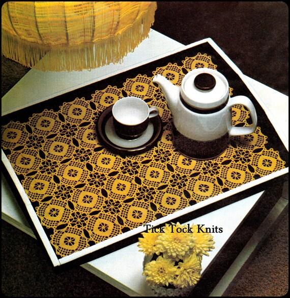 No 320 Tischset Häkeln Muster Pdf Vintage Mosaik Tischset Etsy