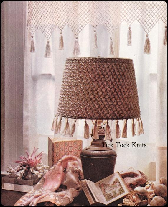 No234 Pdf Vintage Crochet Pattern Crocheted Valance Etsy