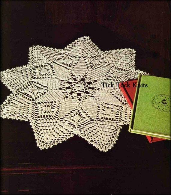 No486 Thread Crochet Pattern Pdf Vintage Star Shaped Doily Etsy