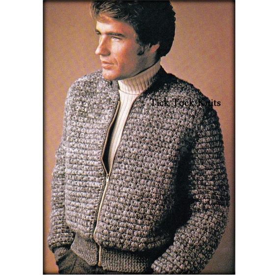 No544 Mens Crochet Pattern Pdf Cardigan Sweater Coat Etsy