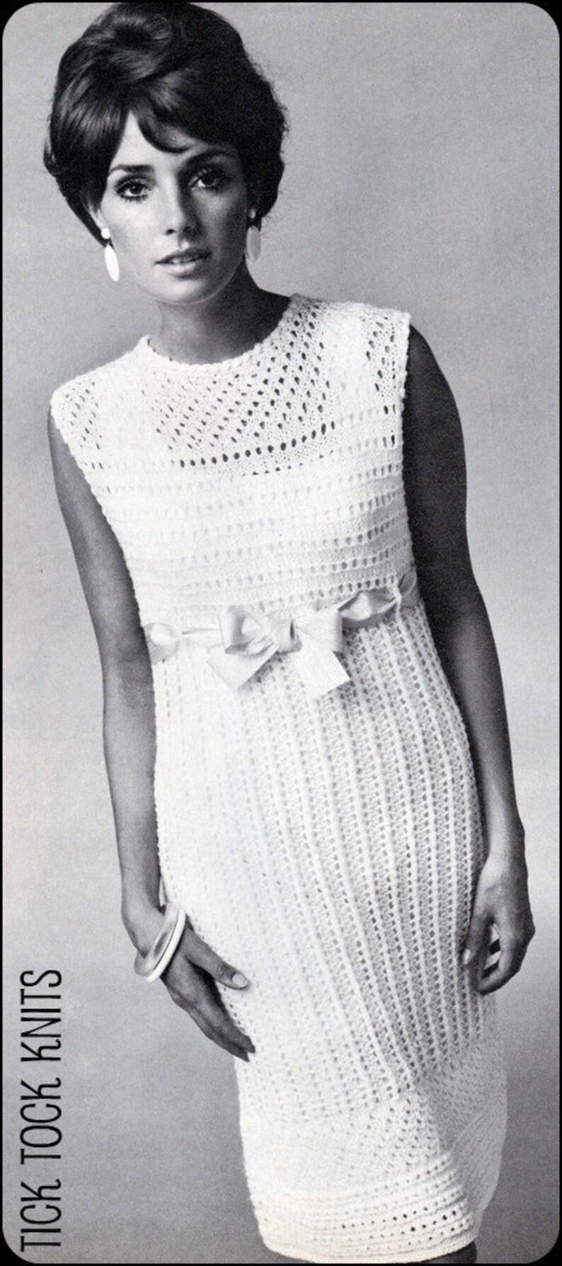 53796858de780 No.89 PDF Vintage Knitting Pattern For Women Empire Waist | Etsy