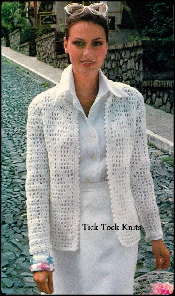 No 124 Pdf 1970 Vintage Häkelanleitung Damen Filet Häkeln Etsy