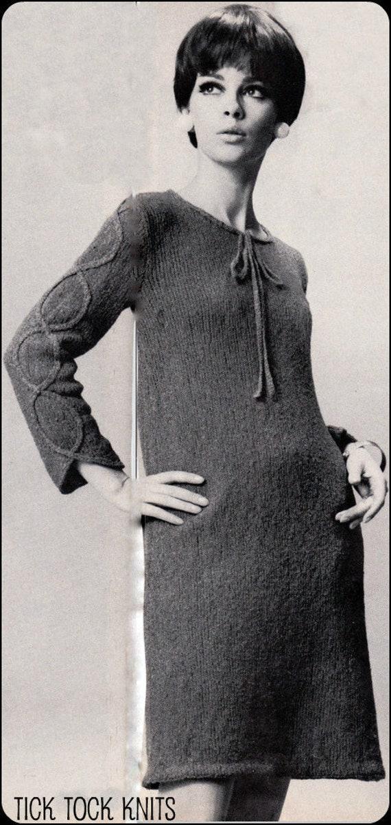 No170 Pdf Vintage Knitting Pattern Womens Braid Trimmed Etsy