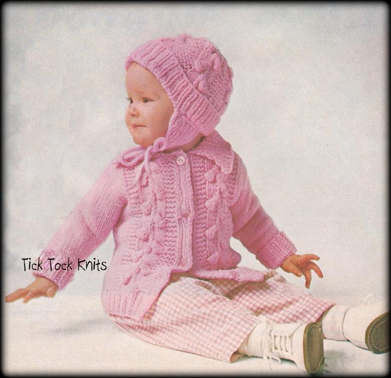 39b1fbac0cda No.598 Baby Knitting Pattern PDF Vintage Puff Stitch Baby