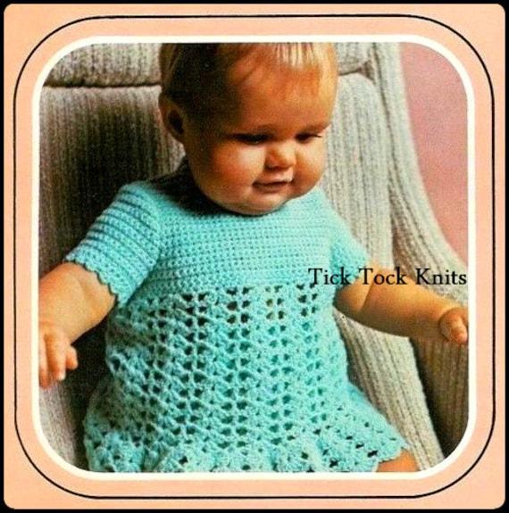 No.325 Baby Kleid häkeln Muster PDF-Vintage Spitze T-Shirt