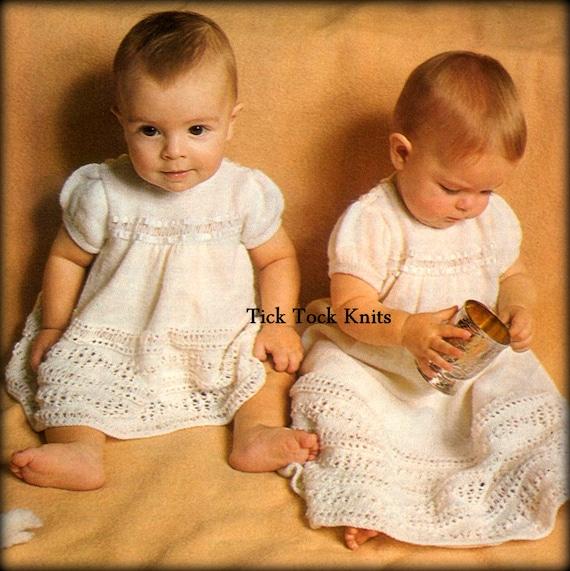 No450 Baby Christening Dress Knitting Pattern Pdf Baptism Etsy