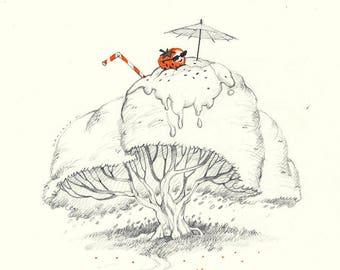 Original Sketch - Summer Tree