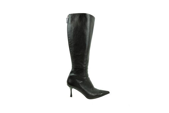 GUCCI  Dark Brown Leather Boots Tom Ford Era