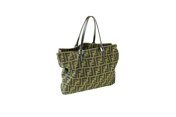 FENDI Vintage  Jacquard Brown Zucca Handbag