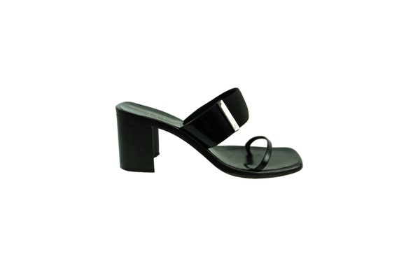 GUCCI Strappy Slide Sandals with Block Heels