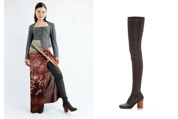 MAISON MARTIN MARGIELA Thigh High Boots / Over the Knee Boots