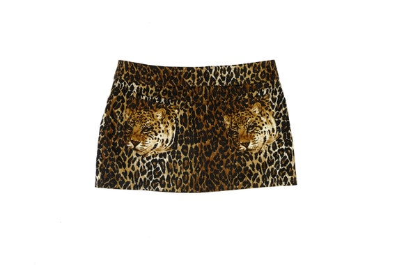 DOLCE & GABBANA Animal Print Mini Skirt