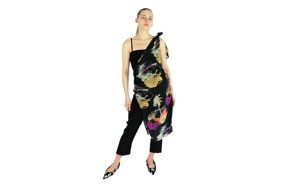 JACQUES MOLKO Layered Silk Jumpsuit