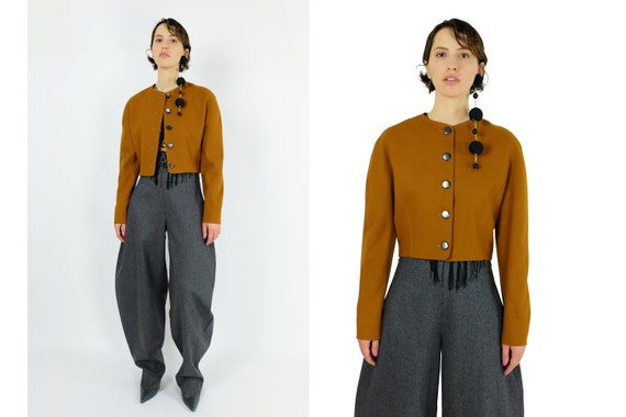 YVES SAINT LAURENT Cropped Wool Jacket