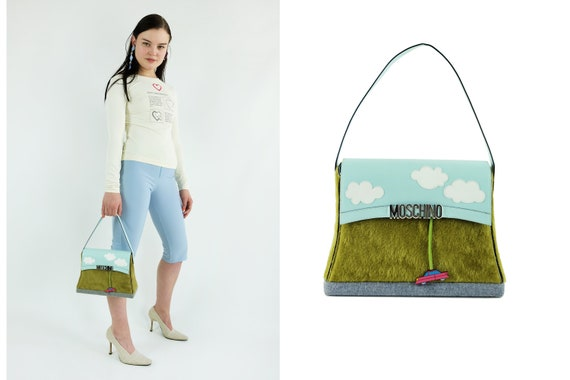 MOSCHINO  Clouds Grass Car Road Bag RARE