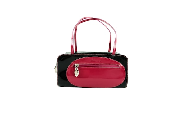 LAGERFELD Colorblock Patent Leather Purse