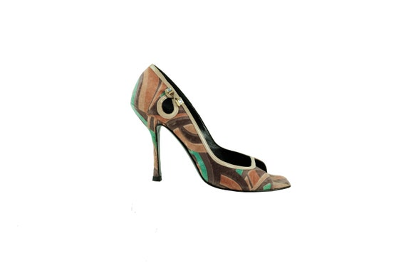GIANNI VERSACE Multi-Coloured Velvet Velvet Pumps