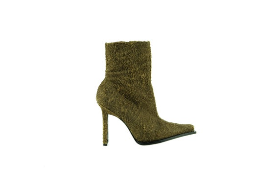 DAVID ACKERMAN Textured Leather Boots