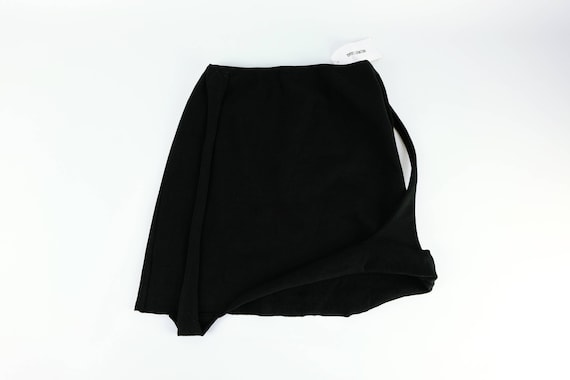 HELMUT LANG Black Knit Strap Skirt