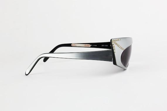 ALAIN MIKLI 1984 Rhinestone Sunglasses - image 3
