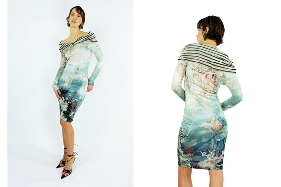 JEAN PAUL GAULTIER Sea World Print Dress
