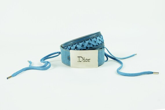 CHRISTIAN DIOR by John Galliano Denim Lace Up Belt