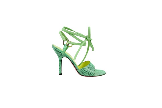 EMANUEL UNGARO Lace Up Leather Sandal