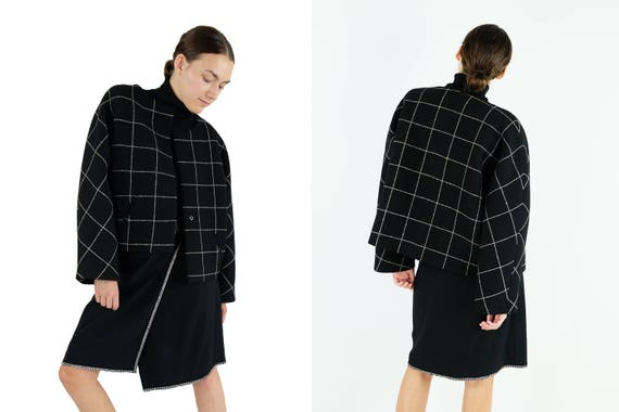 BALENCIAGA  Check Tweed Jacket