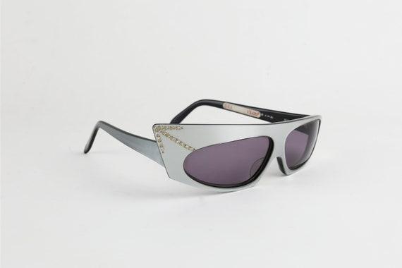 ALAIN MIKLI 1984 Rhinestone Sunglasses - image 2
