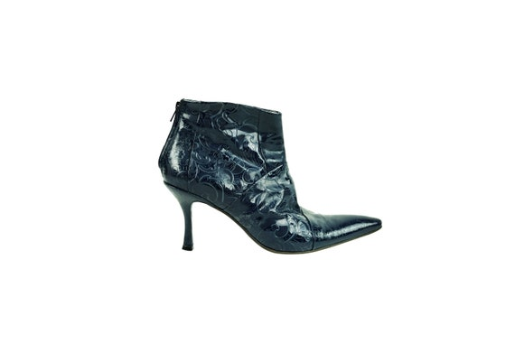 FREE LANCE Embossed Patent Leather Boots
