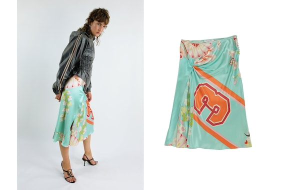 CHRISTIAN DIOR by John Galliano Silk Skirt
