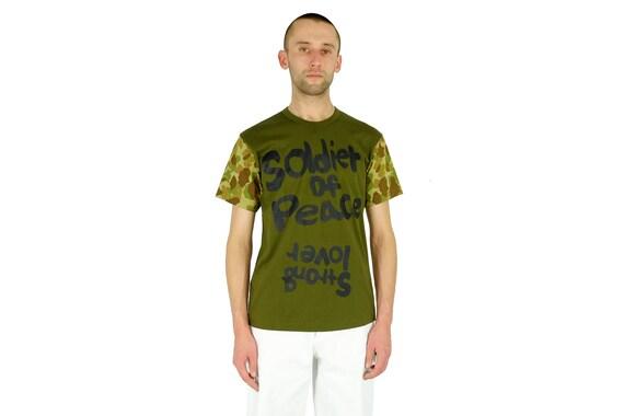 """Comme des Garçons Men's """"Soldier Of Peace"""" T-Shirt"""