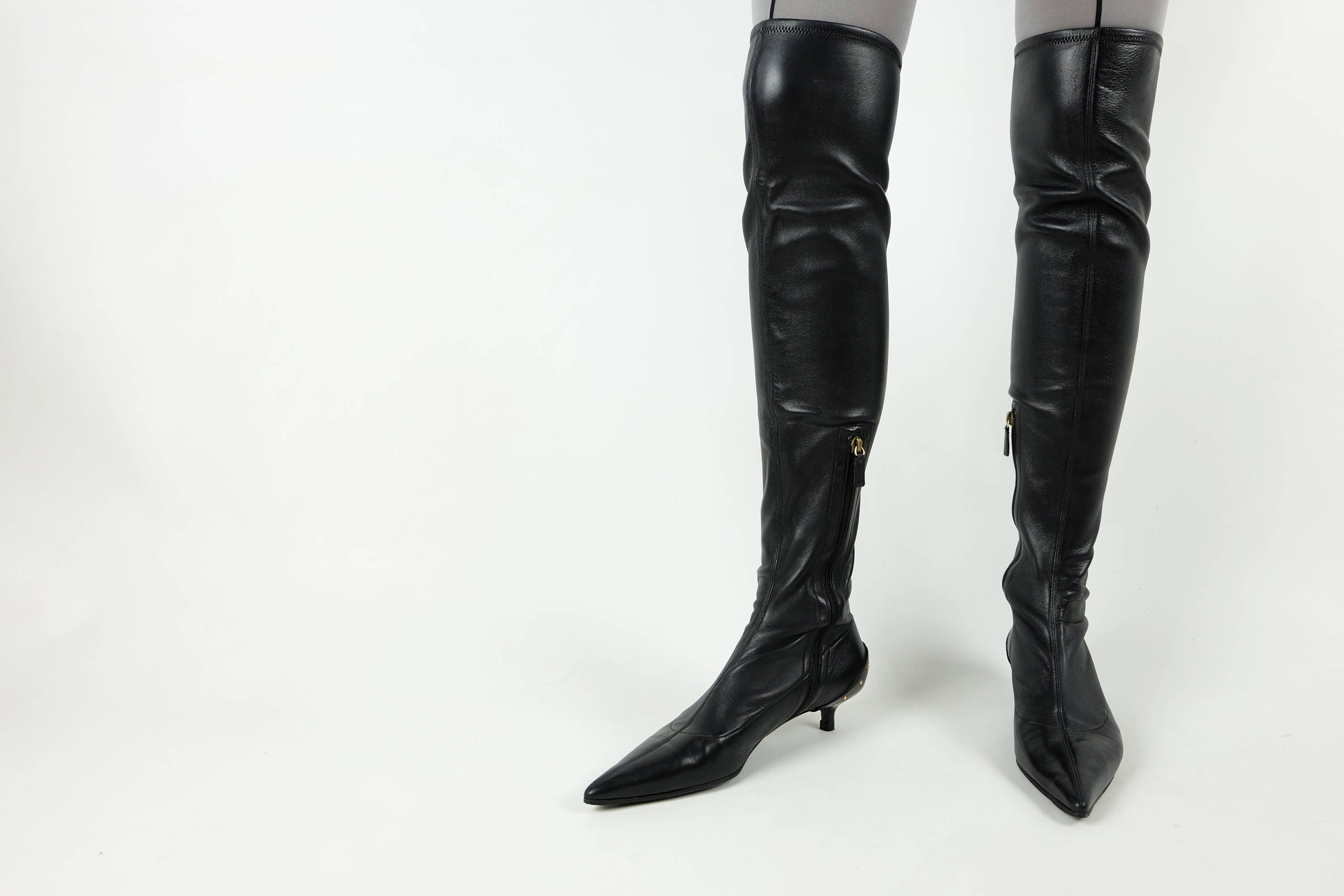 8d4b555e4e82 GUCCI Thigh High Boots  NAPPA Stretch Leather  Over the Knee Boots