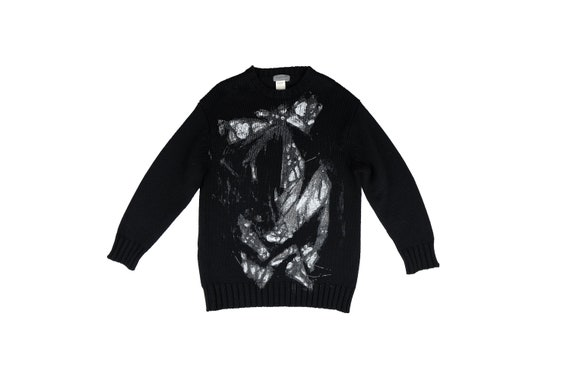 YOHJI YAMAMOTO Painted Wool Heavy Knit Jumper