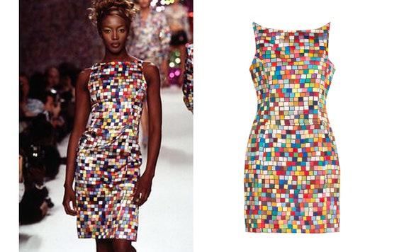 "TODD OLDHAM SS1996 ""Rubik's Cube"" Print Runway Dress"
