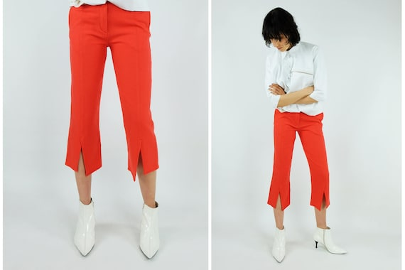 W.&L.T by WALTER van  BEIRENDONCK Orange Wool Pants