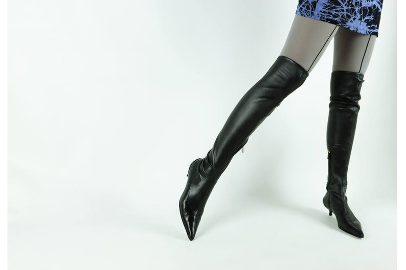 14f95606015d GUCCI Thigh High Boots  NAPPA Stretch Leather  Over the Knee