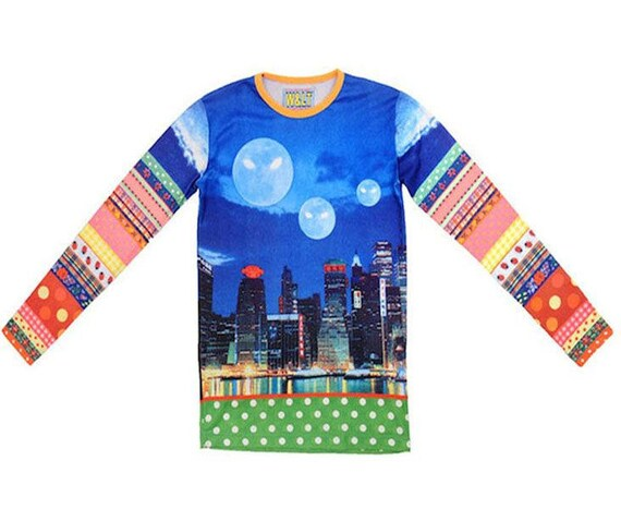 W.&L.T WALTER Van BEIRENDONCK World Alien Love Transmission/Multicoloured Top