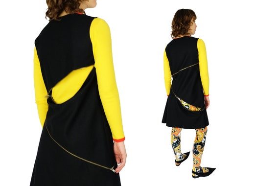 W.&L.T WALTER Van BEIRENDONCK 1998 Asymmetrical Zip Dress