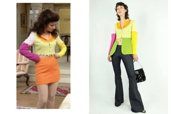 MOSCHINO Colour Block Puzzle Jacket RARE!