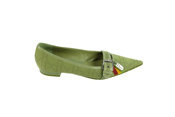 CHRISTIAN DIOR Quilted Rasta Flats