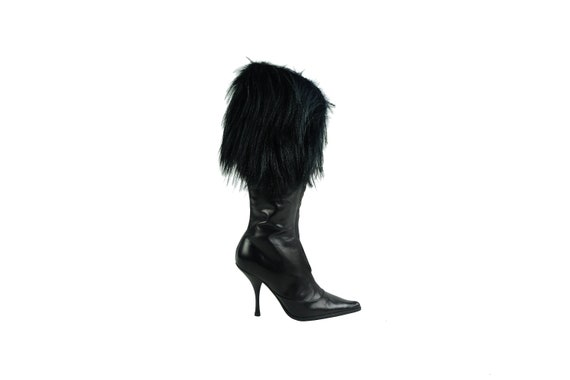 CHRISTIAN DIOR by John Galliano Monkey Fur Trim Boots