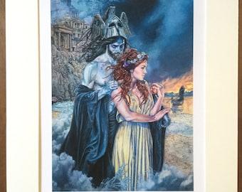 Hades and Persephone Print - Greek Mythology