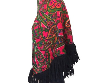 828c1aaef Vintage 60s Psychedelic 1960s Hippie Clothing Psychedelic Clothes  Psychedelic Clothing 60s Hippie Clothes Black Fringe Shawl Paisley Shawl