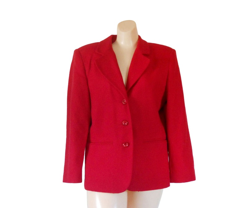 54cb57352891a Femmes Blazer rouge laine Blazer femme Noël vêtements | Etsy